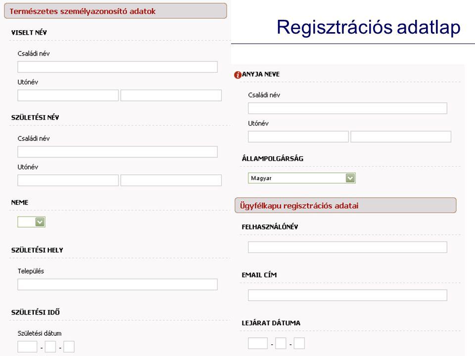 Regisztrációs adatlap