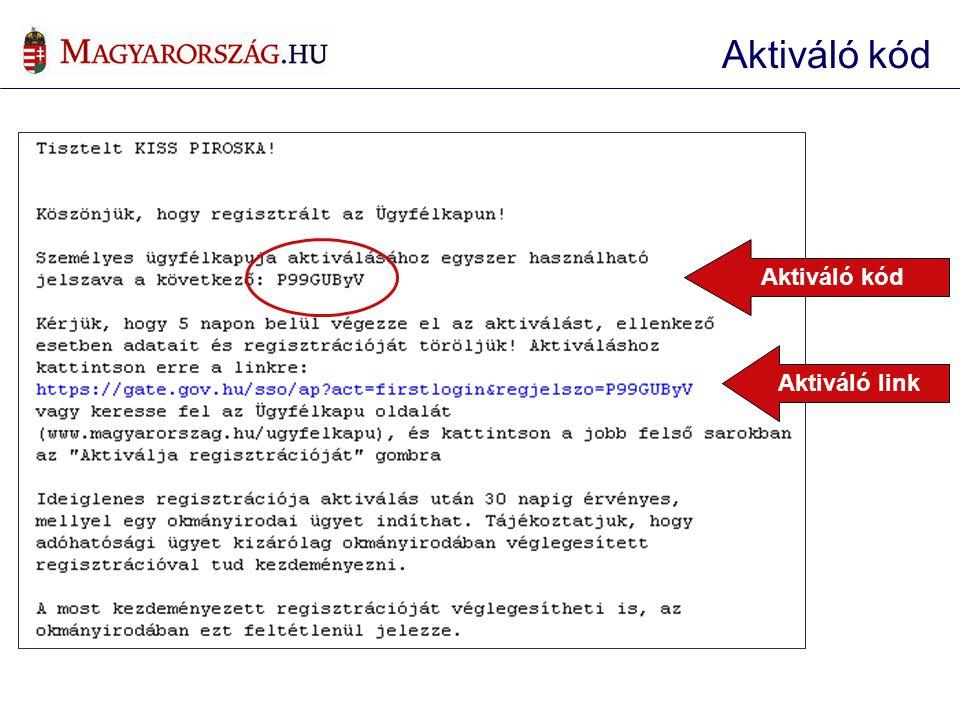 Aktiváló kód Aktiváló link Aktiváló kód