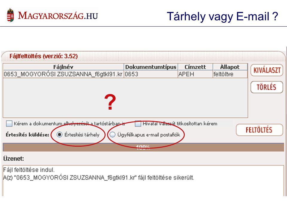 ? Tárhely vagy E-mail ?