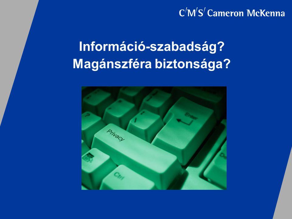Információ-szabadság? Magánszféra biztonsága?