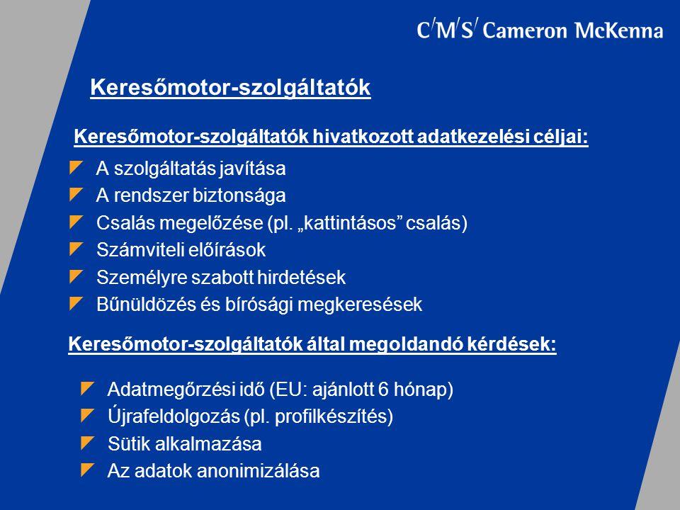 """ A szolgáltatás javítása  A rendszer biztonsága  Csalás megelőzése (pl. """"kattintásos"""" csalás)  Számviteli előírások  Személyre szabott hirdetések"""