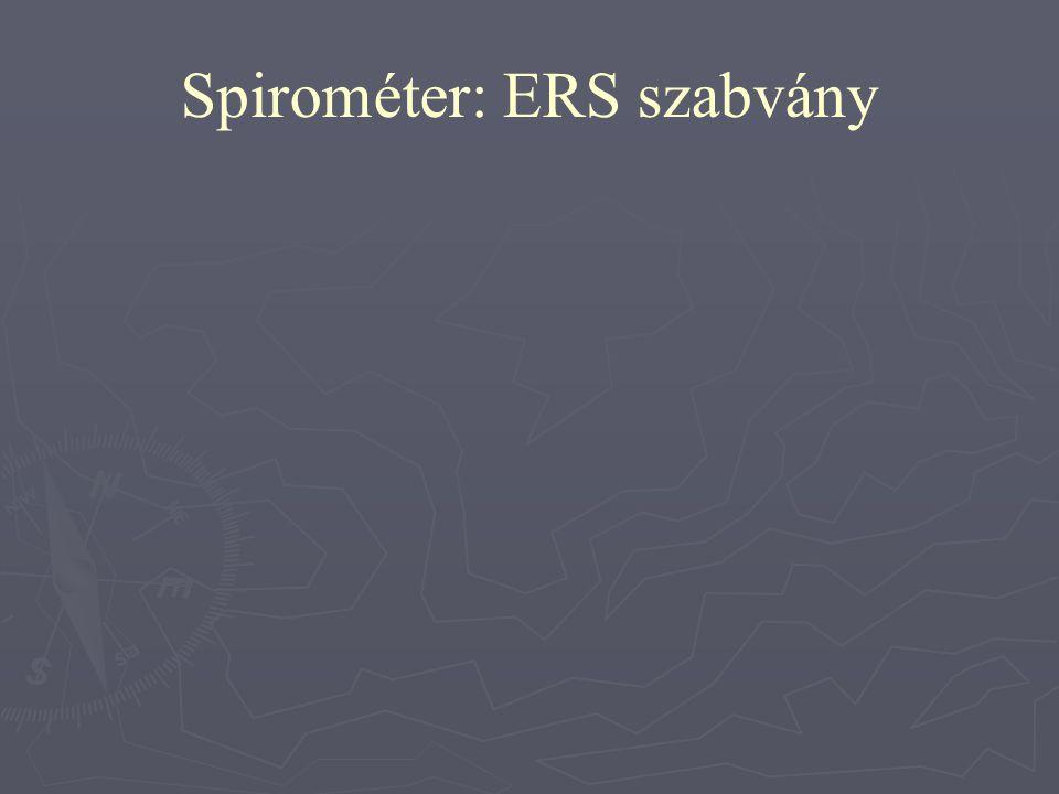 Spirométer: ERS szabvány