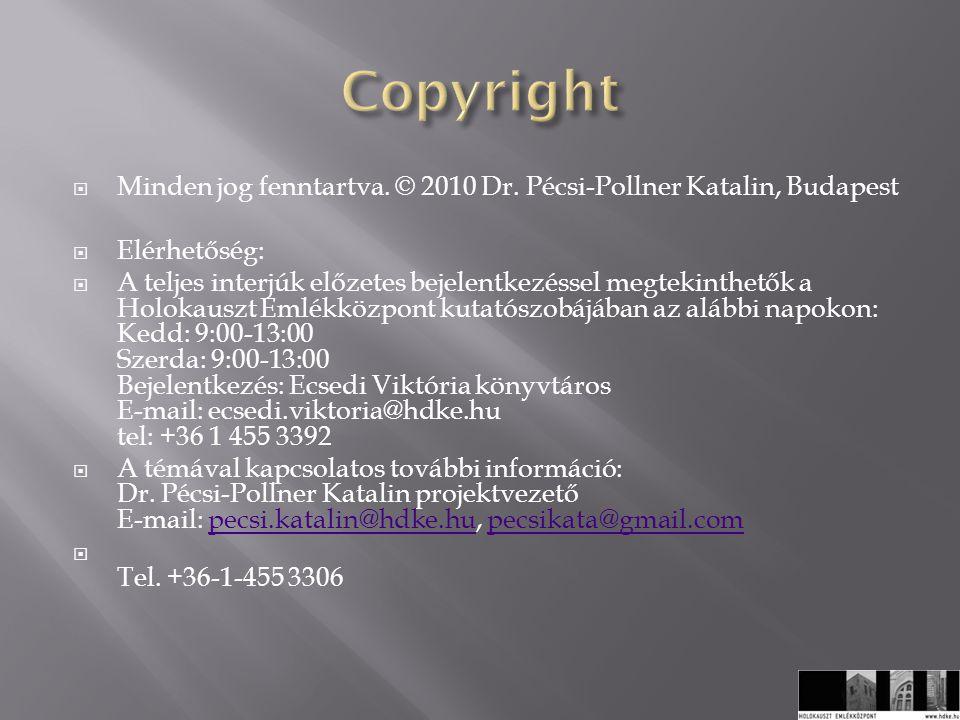  Minden jog fenntartva. © 2010 Dr.