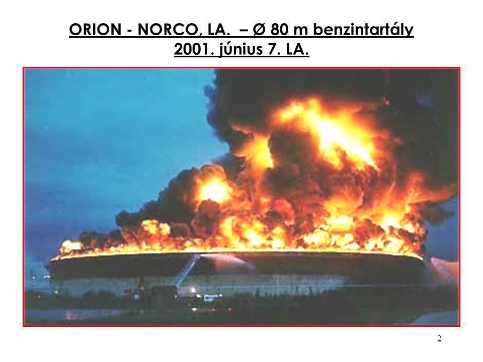 2 ORION - NORCO, LA. – Ø 80 m benzintartály 2001. június 7. LA.