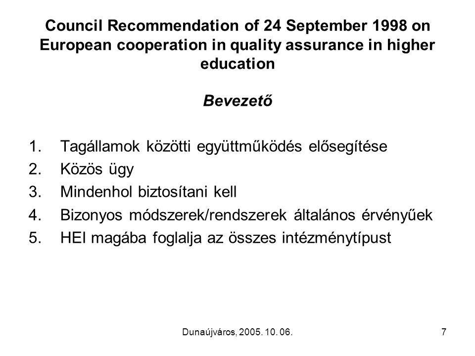 Dunaújváros, 2005.10. 06.18 JÓ MUNKÁT A RÉSZTVEVŐKNEK.