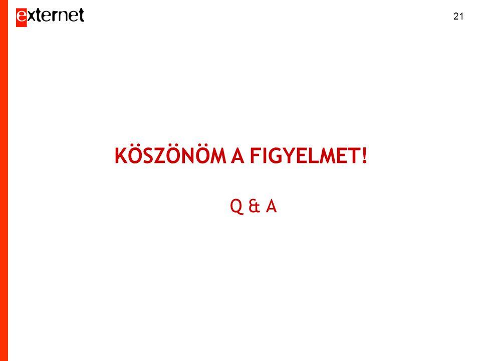 21 KÖSZÖNÖM A FIGYELMET! Q & A