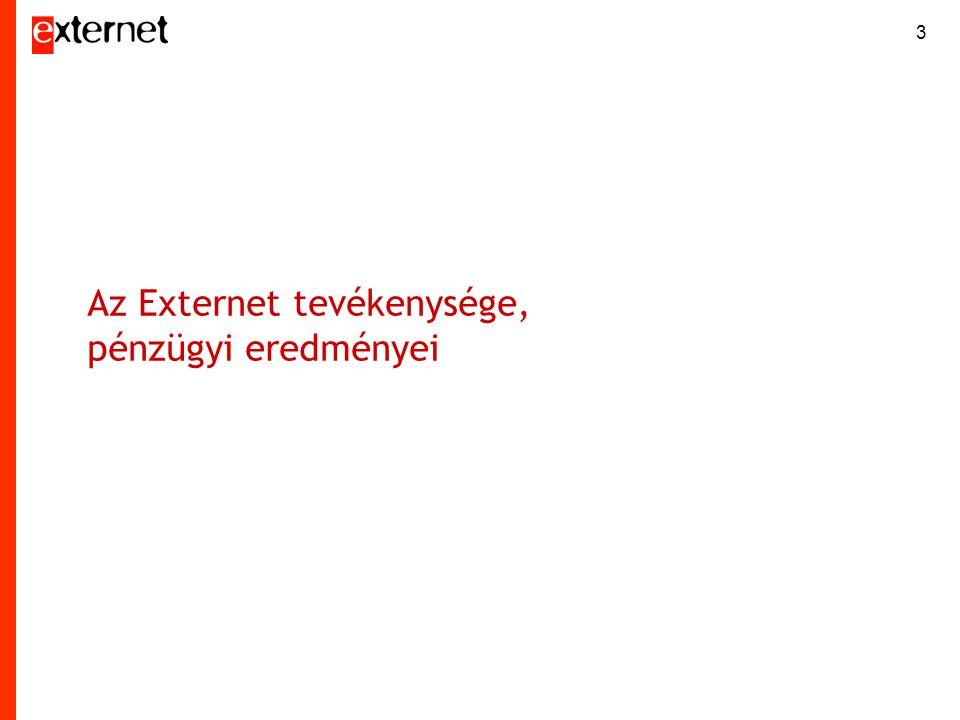 Az Externet tevékenysége, pénzügyi eredményei 3