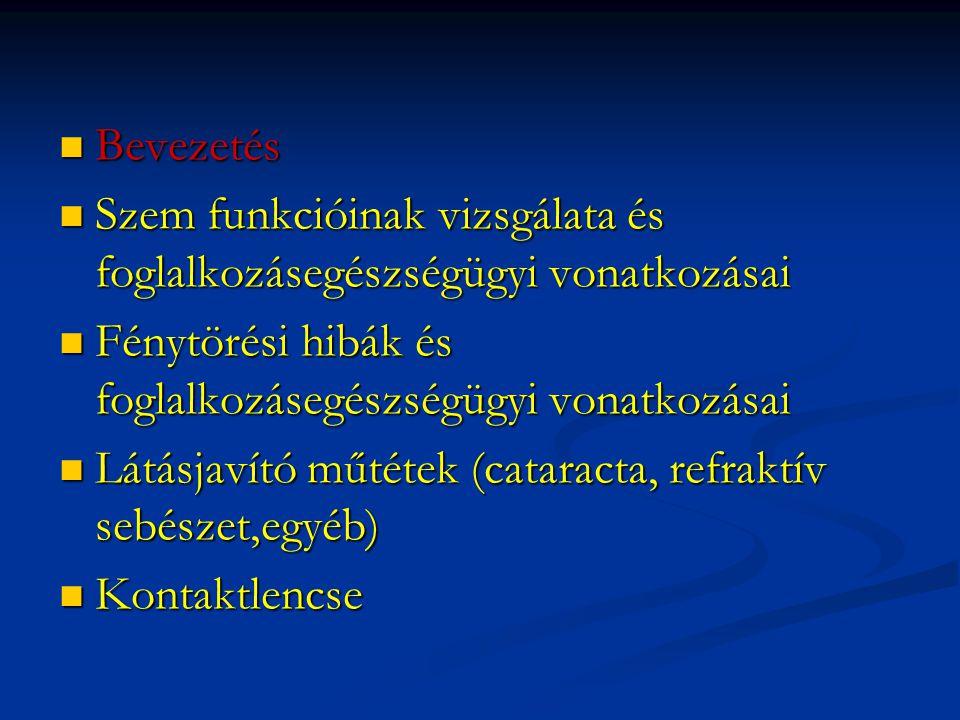 Monitor előtt végzett munka foglalkozásegészségügyi vonatkozásai (lsd.
