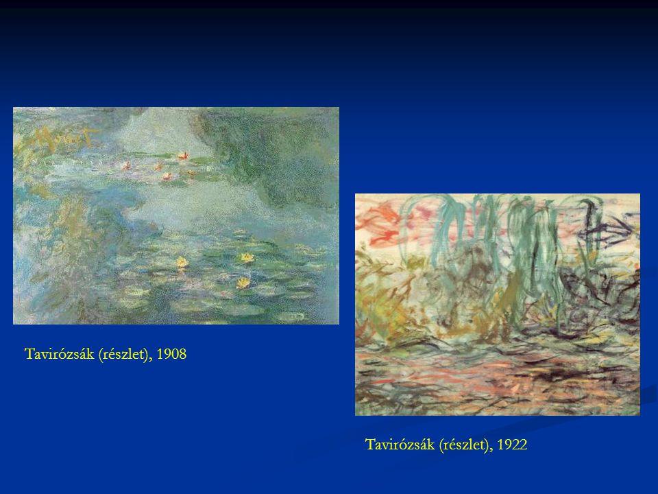 Tavirózsák (részlet), 1908 Tavirózsák (részlet), 1922