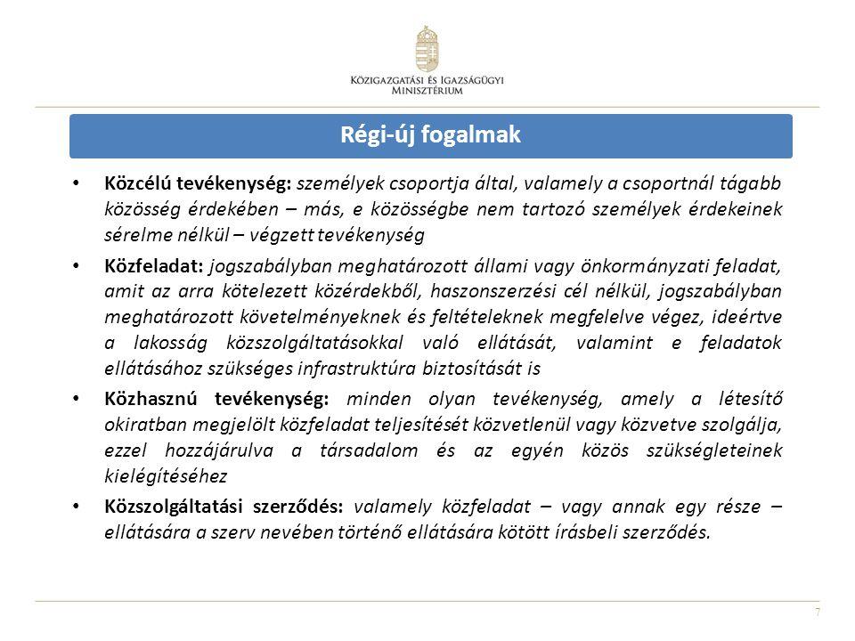 8 Főbb változások - nyilvántartás A nyilvántartás rendszere megújul: • Civil Információs Portál civil.kormany.hu – hamarosan, teljes adattartalom: 2012.06.30.