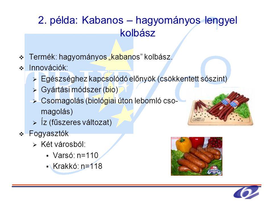 """2. példa: Kabanos – hagyományos lengyel kolbász  Termék: hagyományos """"kabanos kolbász."""