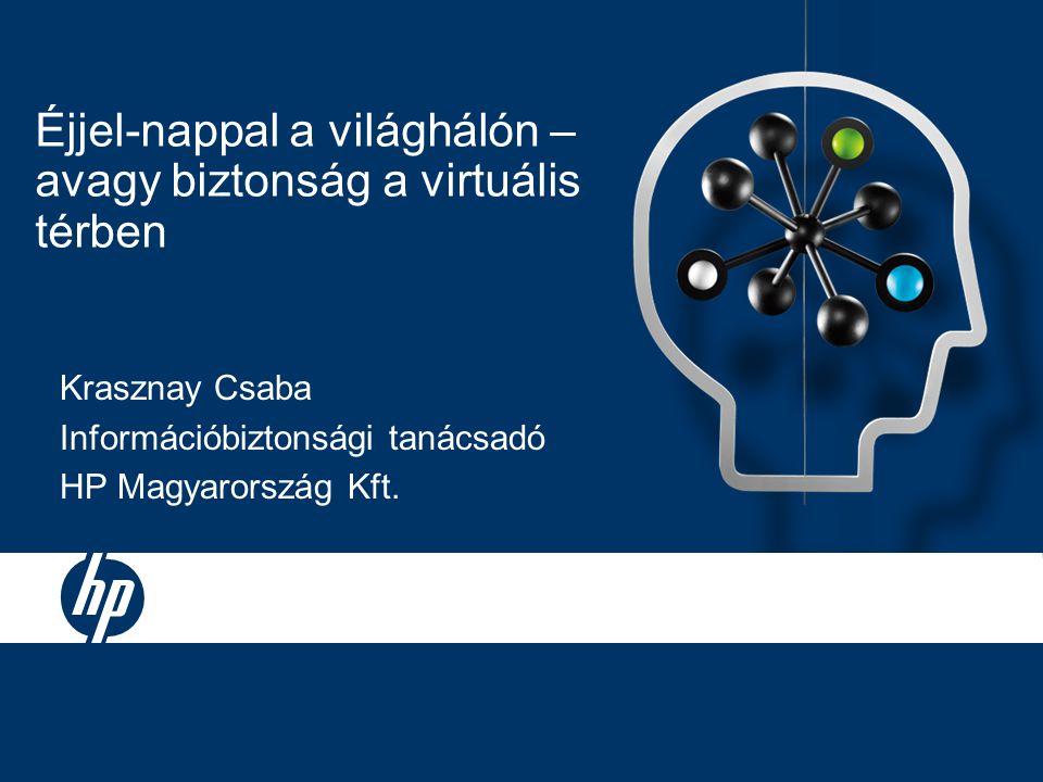 Éjjel-nappal a világhálón – avagy biztonság a virtuális térben Krasznay Csaba Információbiztonsági tanácsadó HP Magyarország Kft.