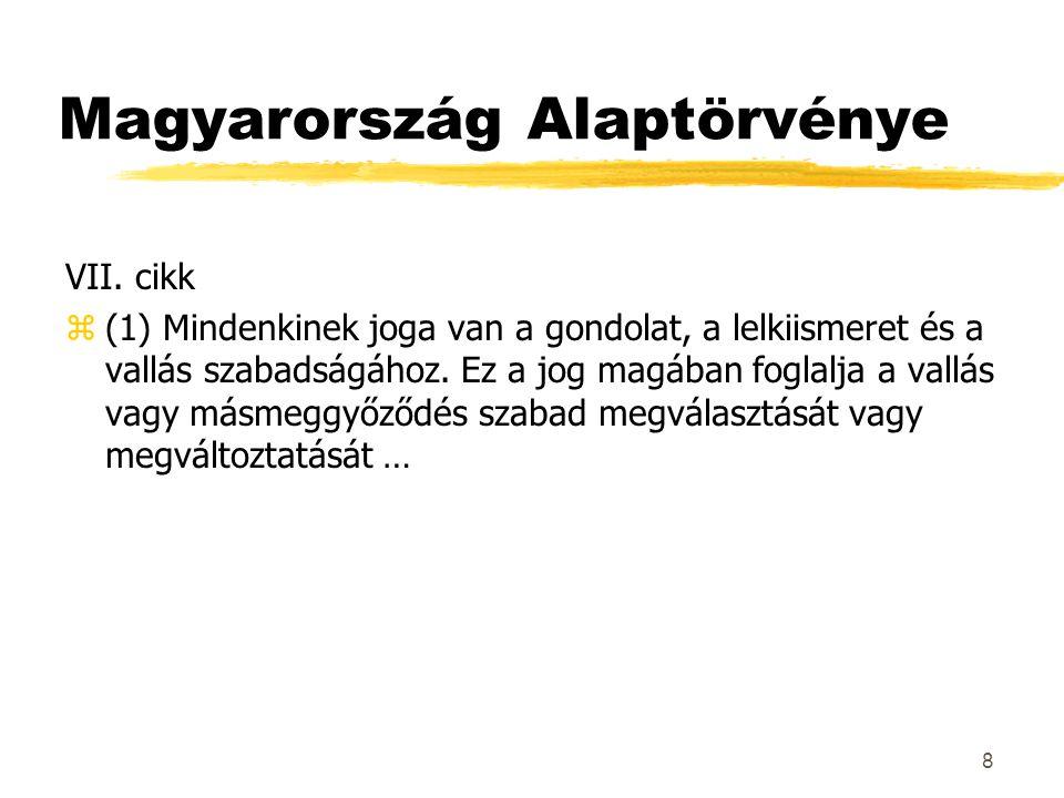 Magyarország Alaptörvénye VII.
