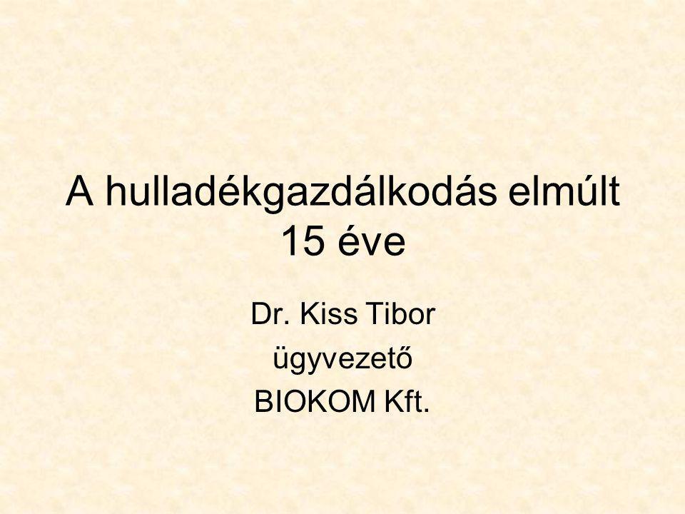 A hulladékgazdálkodás elmúlt 15 éve Dr. Kiss Tibor ügyvezető BIOKOM Kft.