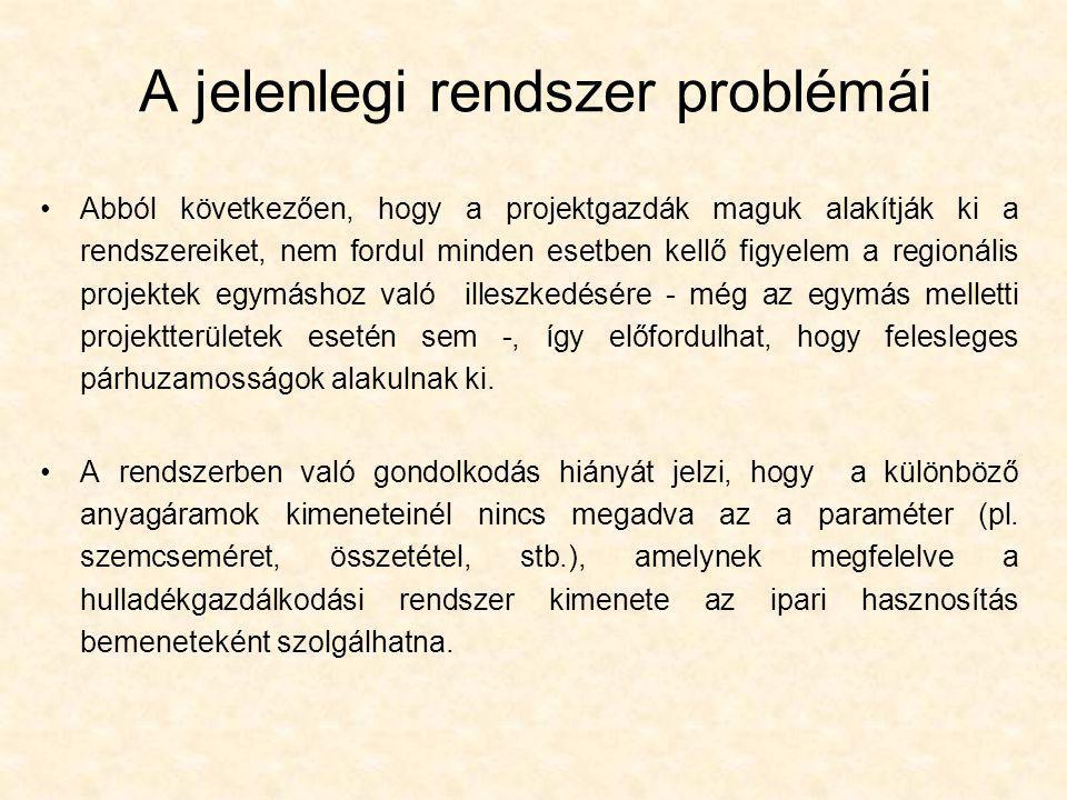 A jelenlegi rendszer problémái •Abból következően, hogy a projektgazdák maguk alakítják ki a rendszereiket, nem fordul minden esetben kellő figyelem a