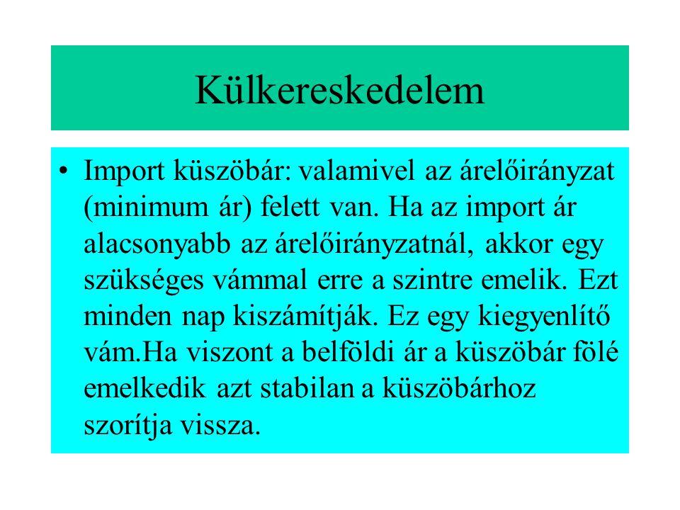2. Minimumár (alsó határ, beavatkozási, alapár) meghatározása •Hatása: biztonság, kiegyenlíti a maximális ár árcsökkentő hatását. A sávból való kilépé