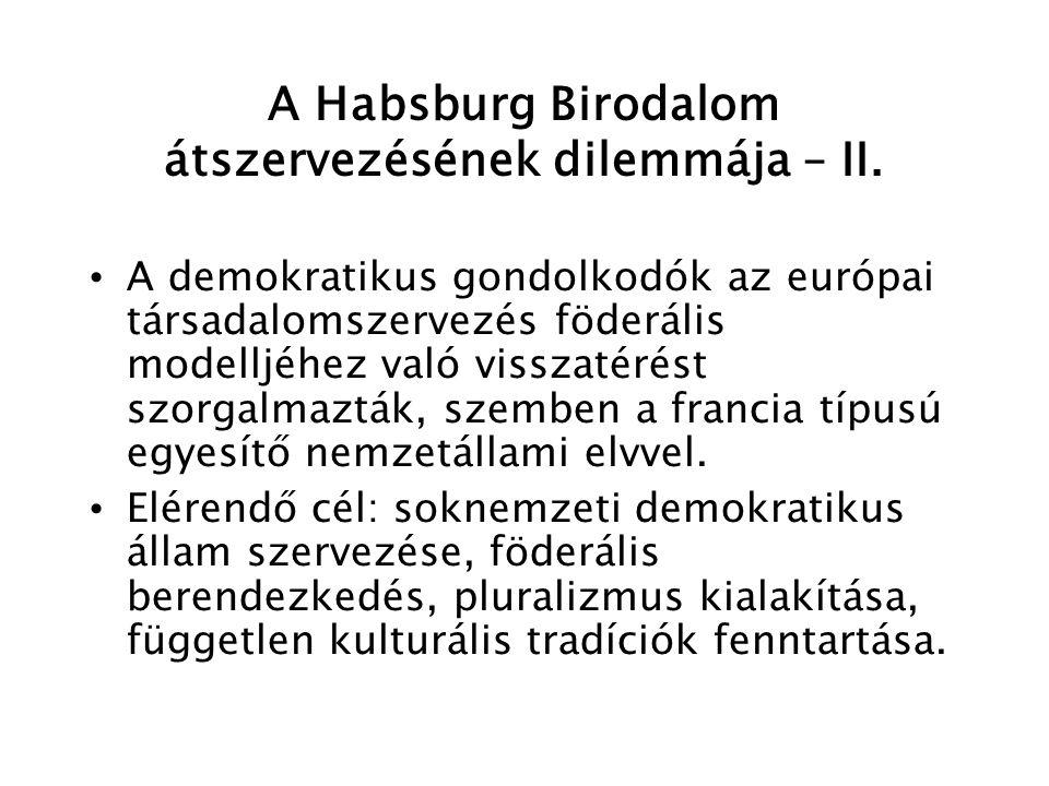 Magyar felvilágosult reformtörekvések a polgári szabadság irányában – I.