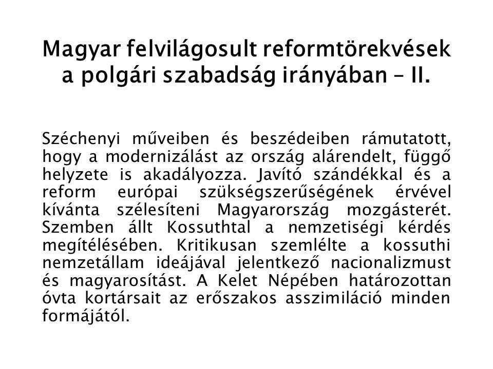 Reformgondolatok Ausztria föderatív átszervezésére – V.