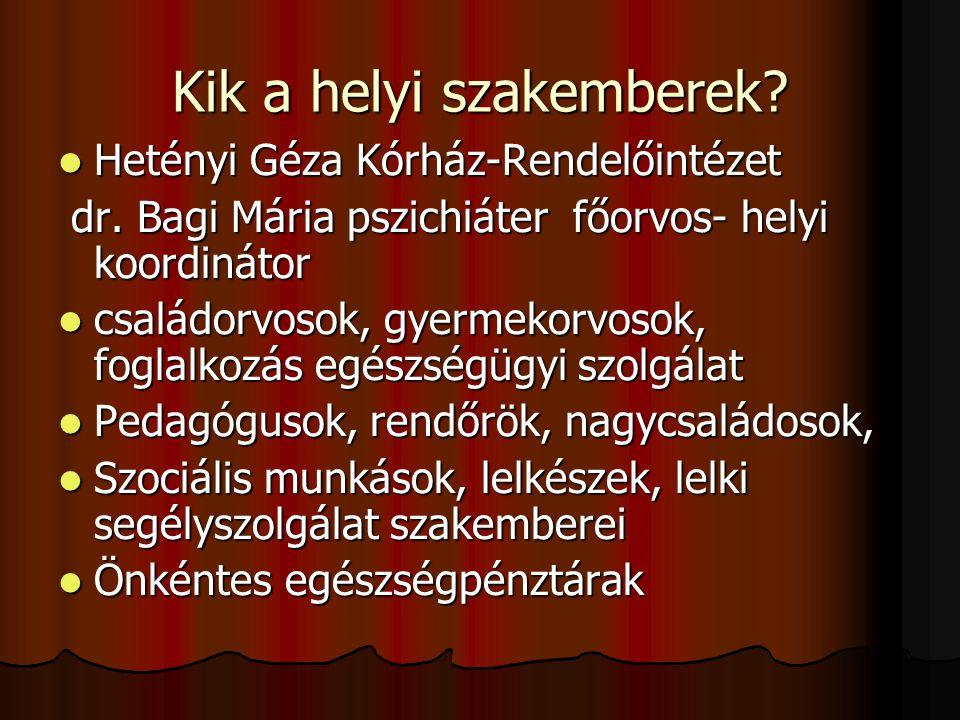 Kik a helyi szakemberek.  Hetényi Géza Kórház-Rendelőintézet dr.