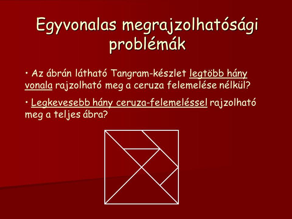 Egyvonalas megrajzolhatósági problémák A B C D E F G H  A A A A következő ábra megrajzolható-e egy vonallal, ha az irányított élen, csak a nyíl irányában haladhatunk.