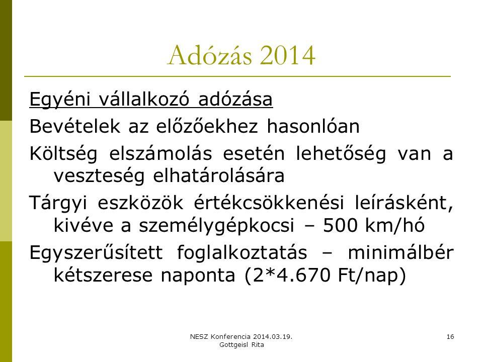 NESZ Konferencia 2014.03.19.