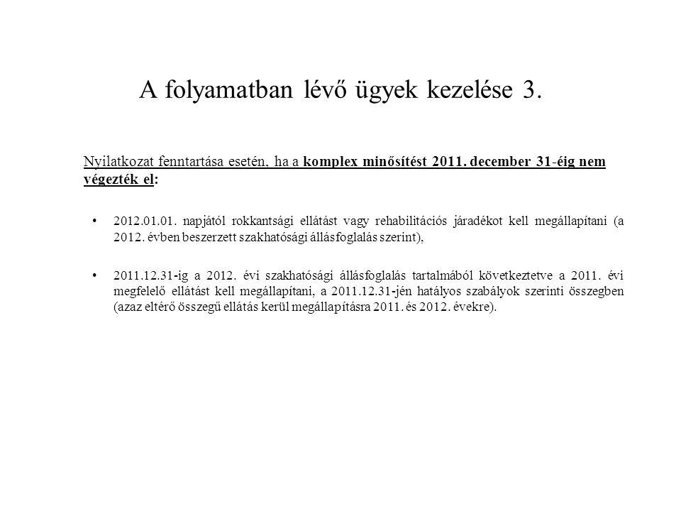 Rehabilitációs kártya Rehabilitációs kártyára jogosult: •a rehabilitálható megváltozott munkaképességű, továbbá •a 2011.12.31.