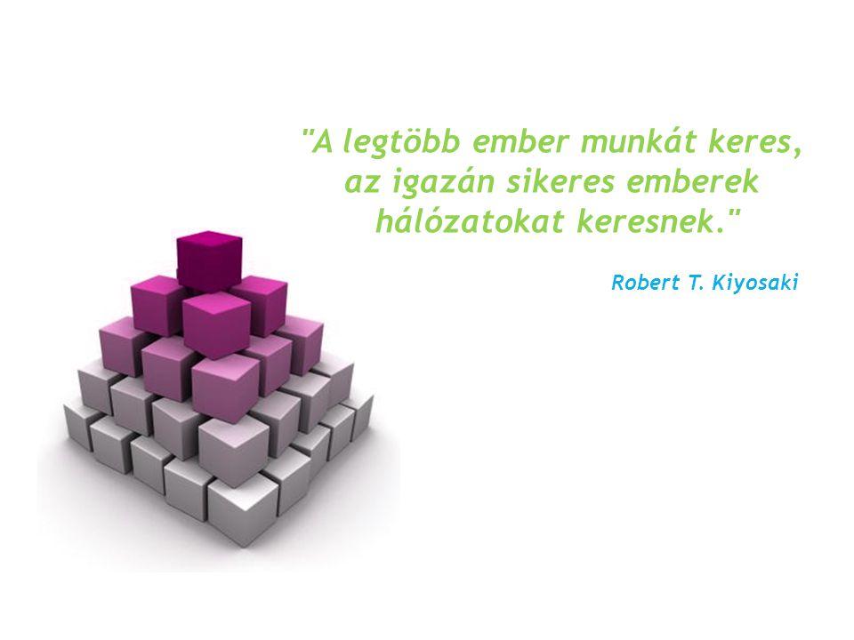 A legtöbb ember munkát keres, az igazán sikeres emberek hálózatokat keresnek. Robert T. Kiyosaki