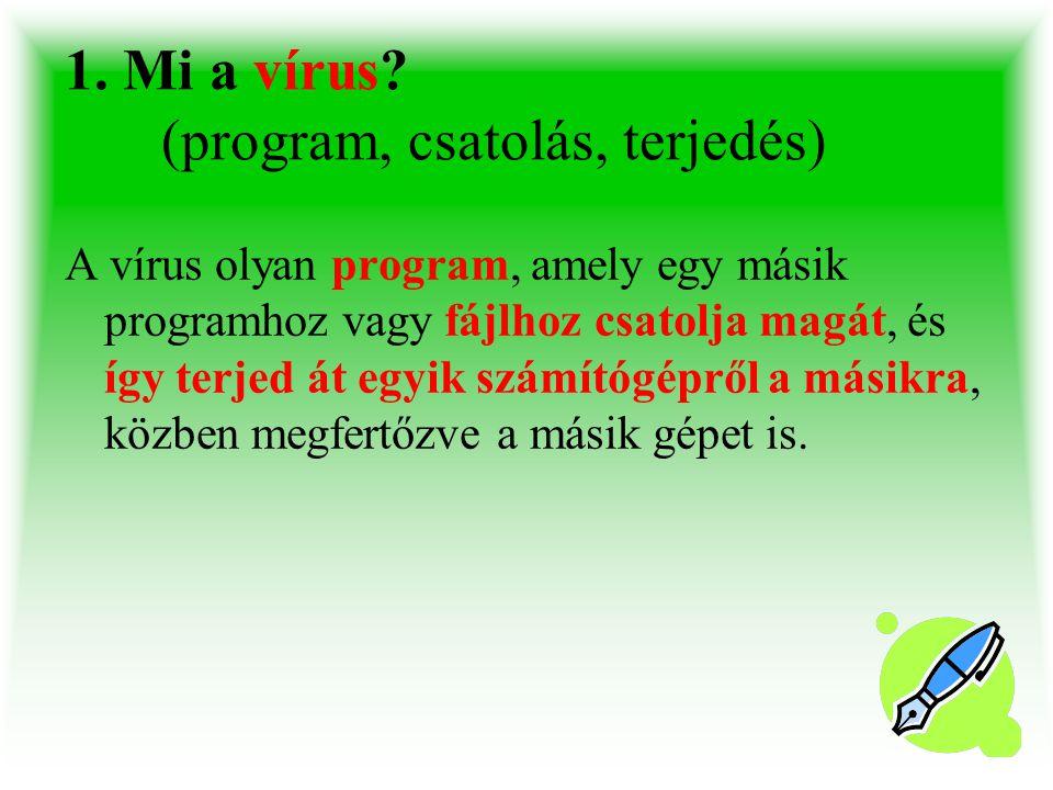 1.Mi a vírus.