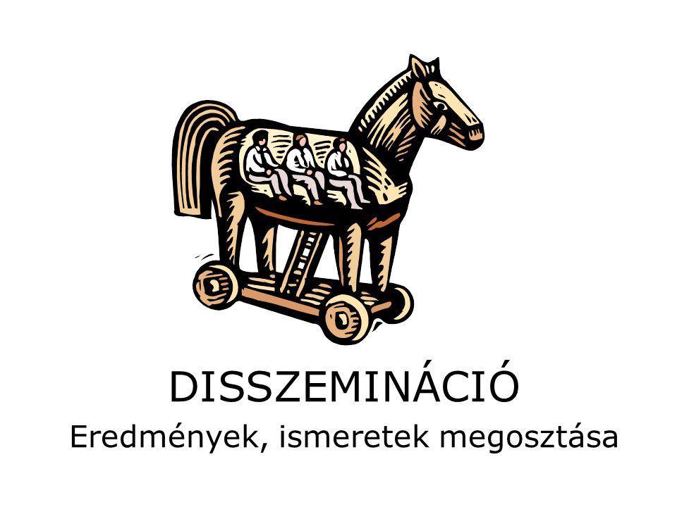 DISSZEMINÁCIÓ Eredmények, ismeretek megosztása