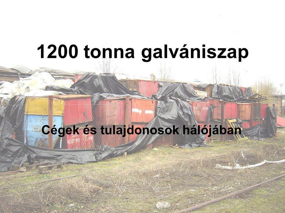 1200 tonna galvániszap Cégek és tulajdonosok hálójában