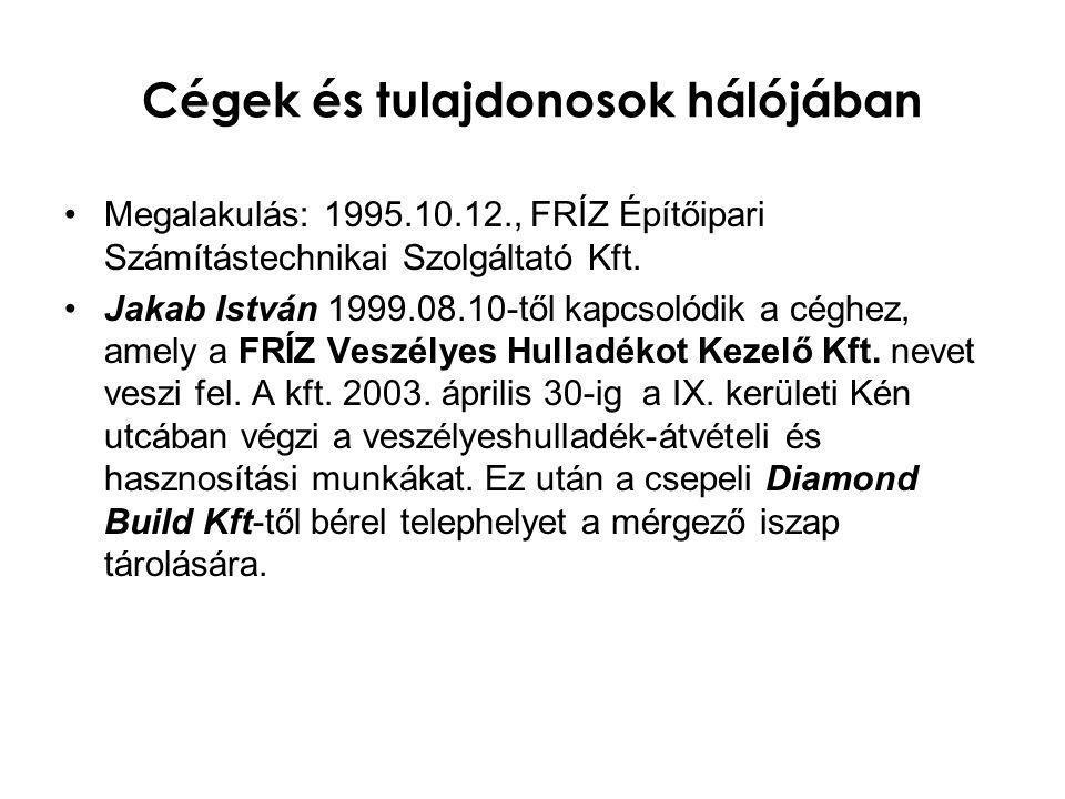 Cégek és tulajdonosok hálójában •A Diamond Build Kft.