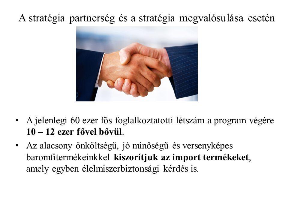 A stratégia partnerség és a stratégia megvalósulása esetén • A jelenlegi 60 ezer fős foglalkoztatotti létszám a program végére 10 – 12 ezer fővel bővül.