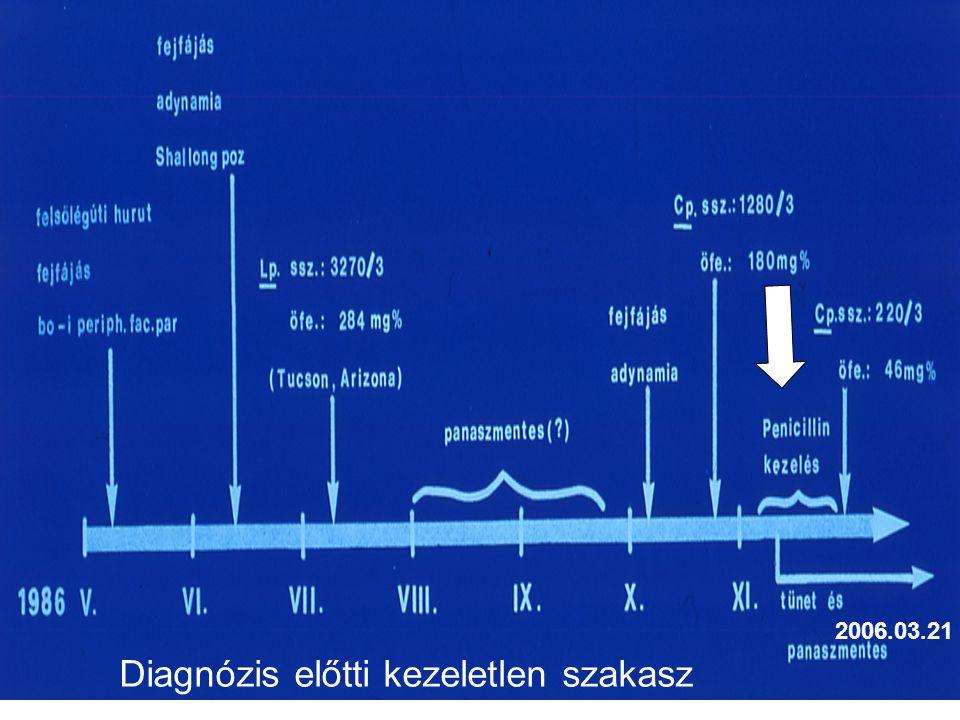 2006.03.21 Diagnózis előtti kezeletlen szakasz