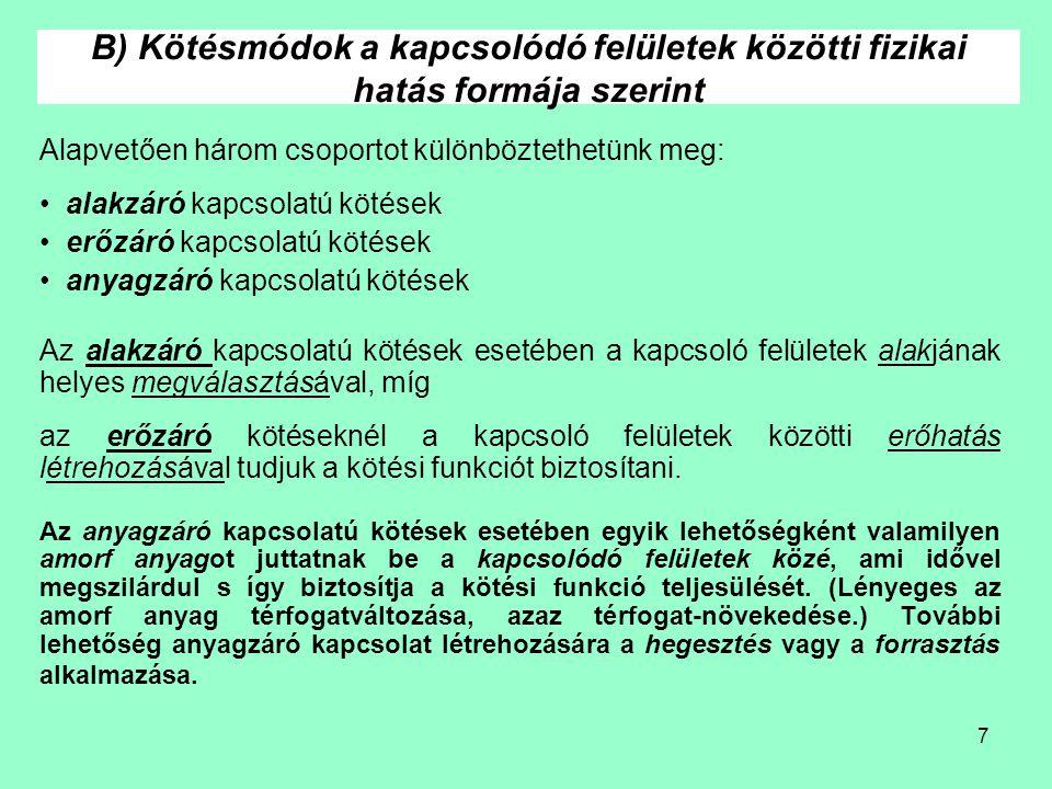 28 Ék- ill.reteszkötések hibái 5.2.3 Ék- és reteszkötések Az ék- ill.