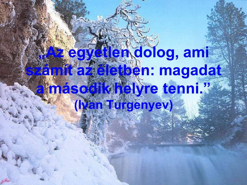 """""""Az egyetlen dolog, ami számít az életben: magadat a második helyre tenni."""" (Ivan Turgenyev)"""