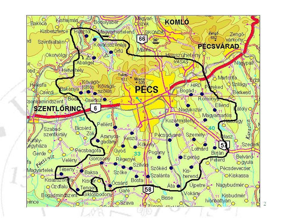 13 Álláskeresők a kistérségben A regisztrált munkanélküliek megoszlása Pécs és körzetében iskolai végzettség szerint (2001, 2006) 2001.