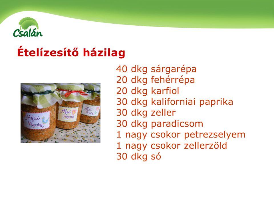 Savanyítás – tejsavas erjedés Káposzta, sárgarépa, retek, vöröshagyma, karfiol, cékla, babok, uborka, cukkini, tök, karalábé, zeller, paprika, paradicsom A kiindulásinál egészségesebb élelmiszerhez jutunk Aprítás (gyalulás) – edénybe rétegezés – sózás – rétegezés – sózás….(taposás) – sós vízzel való felöntés 7-14 nap szobahőmérsékleten (amíg bugyborékol) További 4-8 hétig pincében tárolás, majd fogyasztható