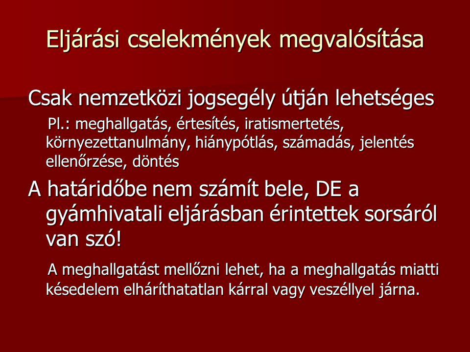 Gondnokság A gondnokolt tartózkodási helye, illetve a felmerülés szükségessége Hagyatéki ügy – külföldi öröklés Ausztria – a többi örököstárs megbízott egy magyar ügyvédi irodát Szerbia – kinti hagyatéki eljárás-egyezség