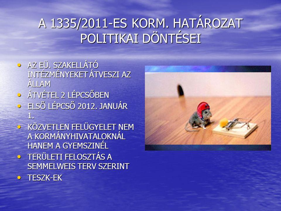 A 1335/2011-ES KORM. HATÁROZAT POLITIKAI DÖNTÉSEI • AZ EÜ.