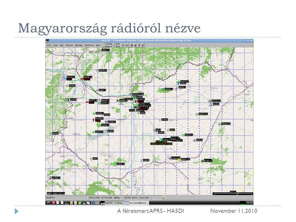 Magyarország rádióról nézve November 11, 201010A félreismert APRS - HA5DI