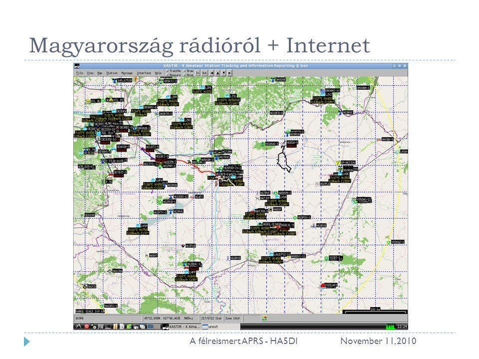 Magyarország rádióról + Internet November 11, 201011A félreismert APRS - HA5DI