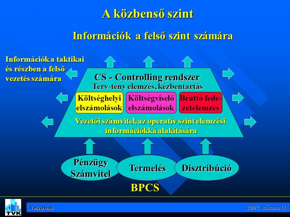 """PénzügySzámvitel CEAACPACRMLTCST Disztribúció Az alap információs rendszer """"építő kövei ORDBILSALPURINV Termelés MDMMPSMRPCAPSFC QMS/ LMS ILMOLMPRO CDM API Veszprém 2002."""