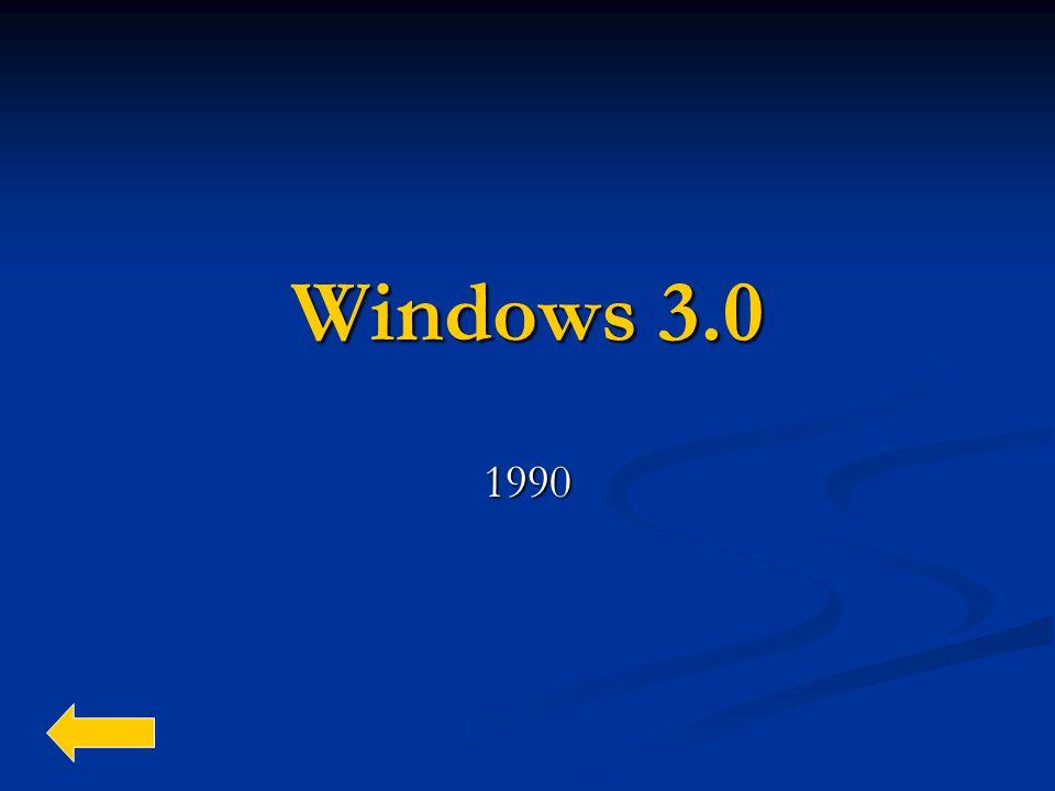 Windows 3.0 1990