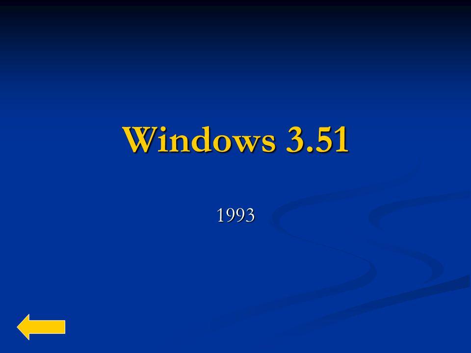 Windows 3.51 1993