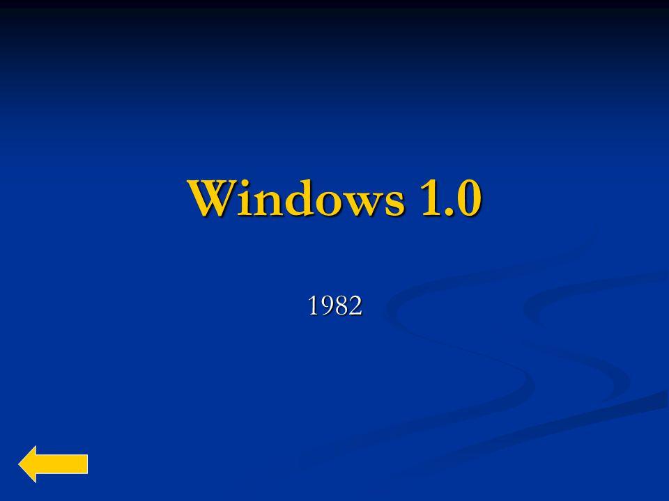 Windows 1.0 1982