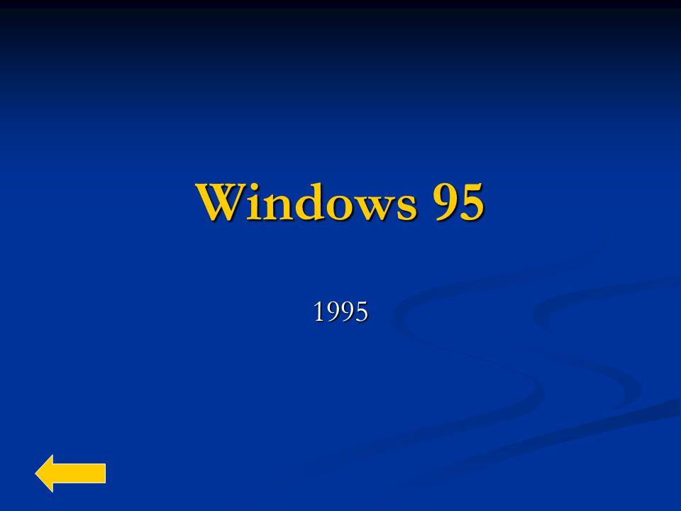 Windows 95 1995