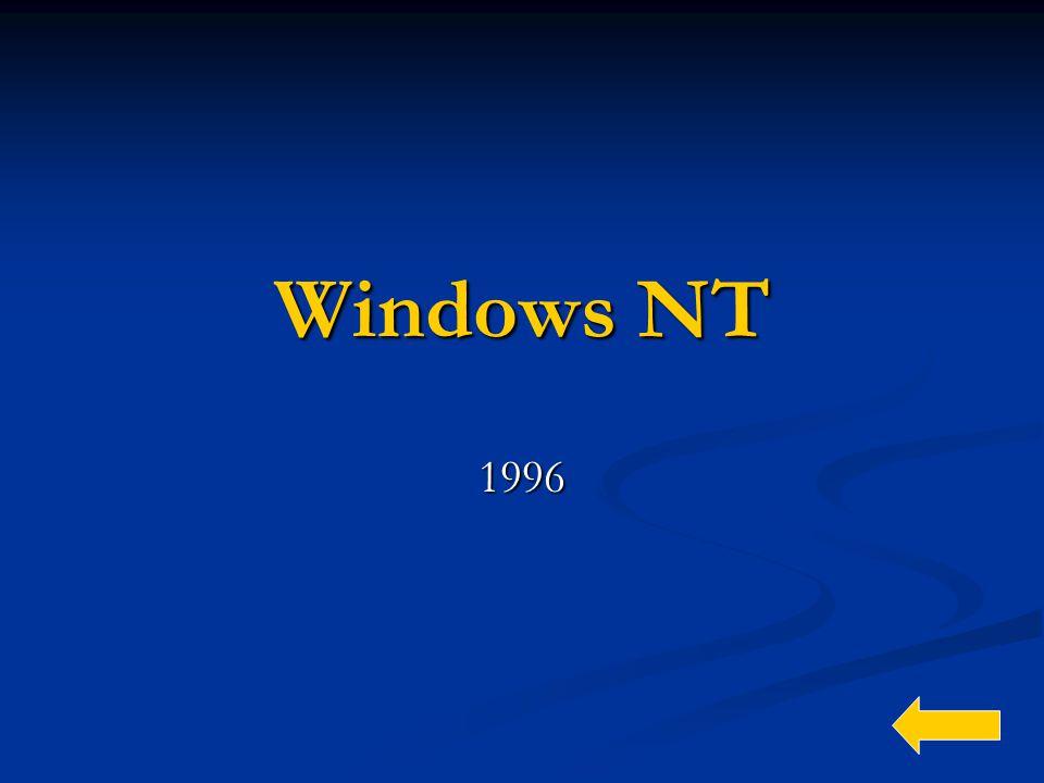 Windows NT 1996