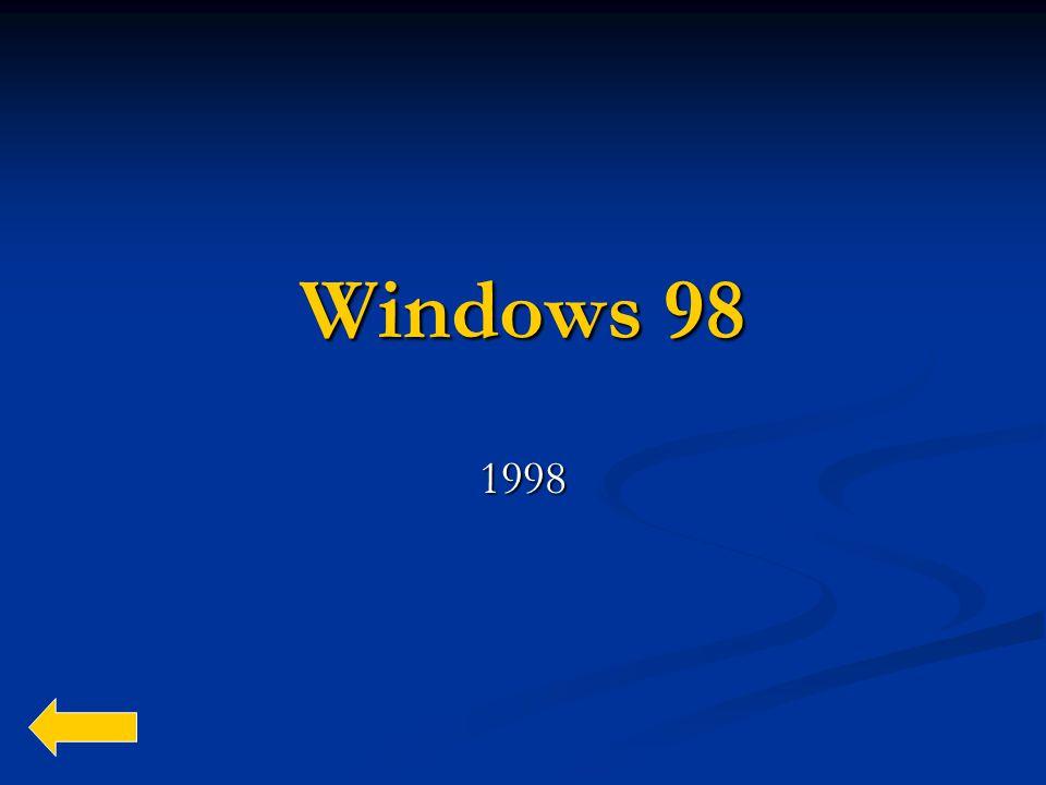 Windows 98 1998