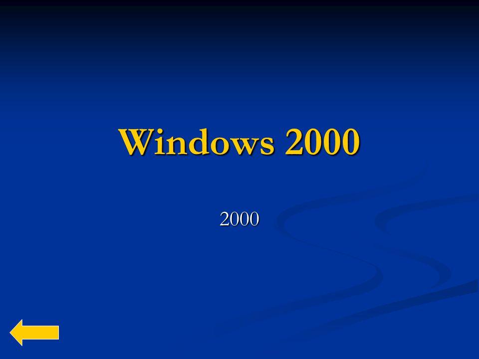 Windows 2000 2000