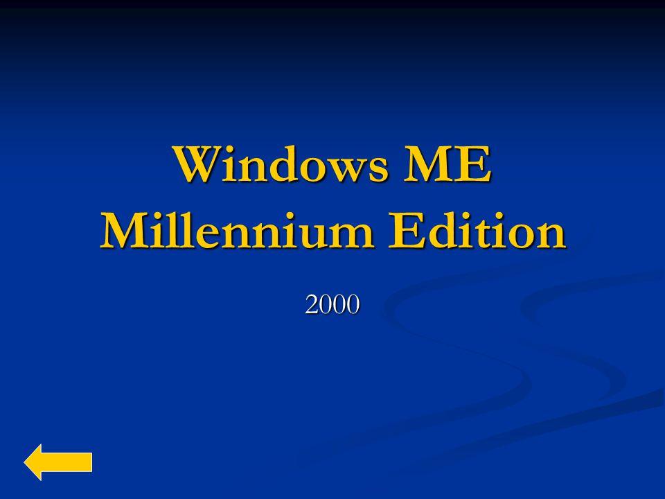 Windows ME Millennium Edition 2000